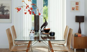 Vertical Mirage White Blinds