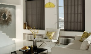 Vertical Screentex Flint Blinds
