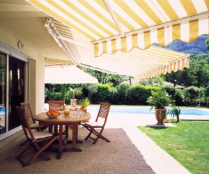 Outdoor Yellow Awnings