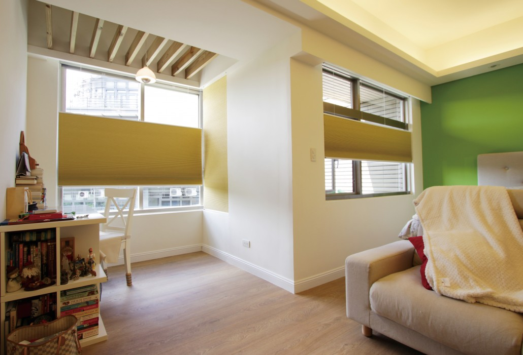 Cordless Yellow Portrait Blinds