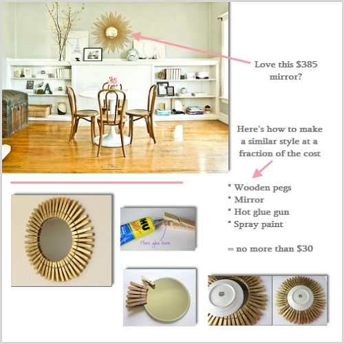 DIY Gold Mirror