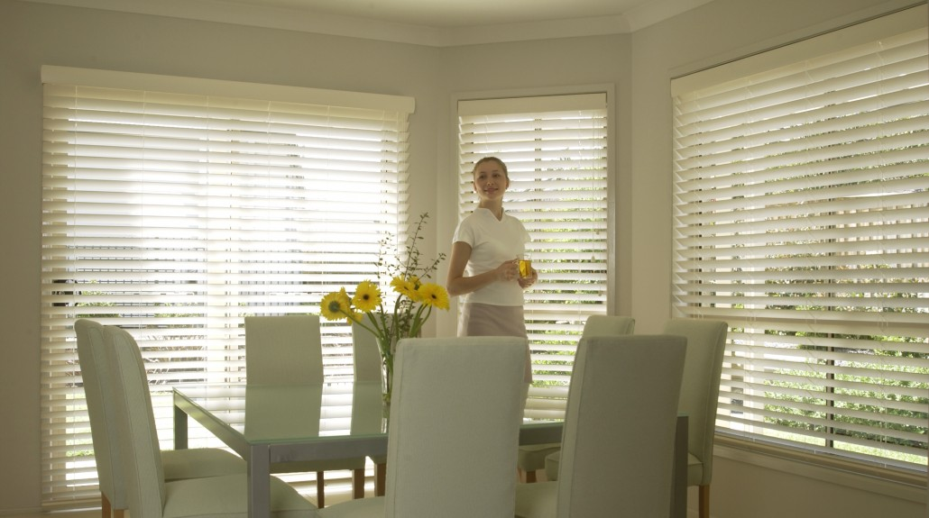 White Timberstyle Venetians