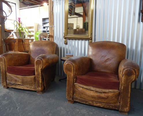 French Folie leather chair